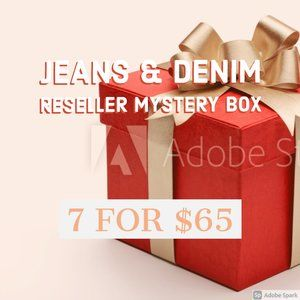 Jeans and Denim Reseller Mystery Box - 7 for $65